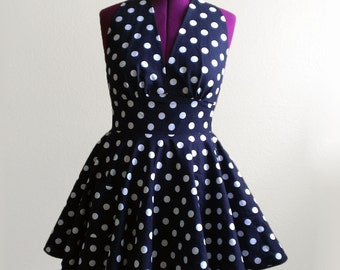 CUSTOM 1950s Inspired Halter Apron - Made to Order