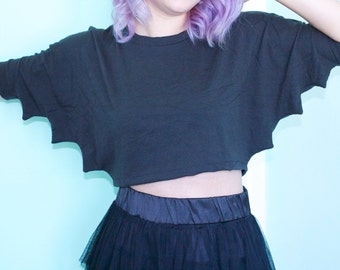 BAT crop top (made to order)