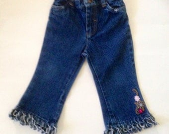 Baby Couture Altered Blue Jeans Hippie Cowgirl