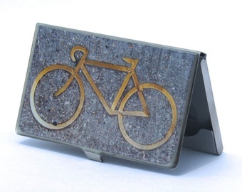 Bike Gifts for Him, Bike Card Case, Business Card Holder, Corporate Gift, Graduation Gift, Father's Day Gift, Bike Gifts for Dad, Coworker