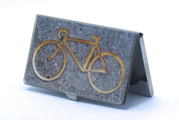 CARD CASE - Bike Card Case - Business Card Holder - Corporate Gift - Graduation Gift