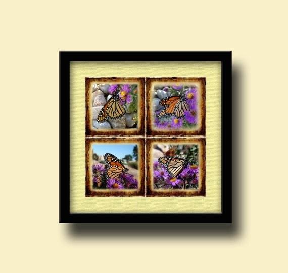 monarch envelope template - monarch butterflies photo art 4x4 tiles cards w primitive
