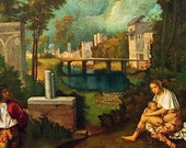 Fine Art Print - The Tempest by Giorgione - Masterpiece Painting - Reproduction Print - 12 x 10