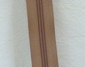 Zippers by the Yard 3 mm zipper chain beige 5 yards