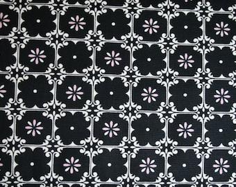 Dena Designs MCKENZIE Fleur in Black for Free Spirit Fabrics df73-black,  cotton quilt fabric by the yard