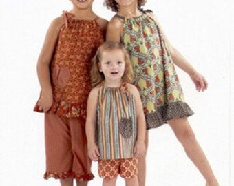 Indygo Junction Girl's Shoulder Tie Topper, Shorts, Capri Pants Pattern - Sizes 2 - 6