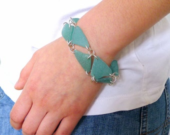 Turquoise Seaglass Bracelet