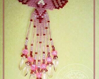 Hand Beaded Angel Pin (choose color or custom)