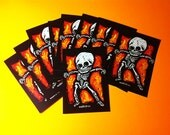 Halloween Skeleton 10 Postcard Set by Mister Reusch