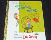 Gerald McBoing Boing  Dr Seuss vintage book mint condition 1978 kid's book rare htf