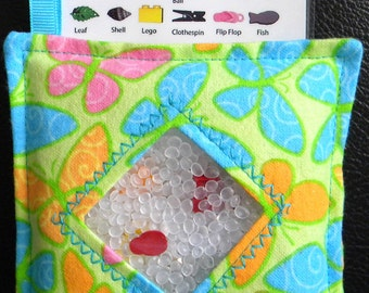 I Spy Bag - Mini with SEWN Word List and Detachable PICTURE LIST- Butterfly Collection