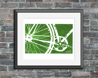 bicycle bike art print home decor nursery wall art childrens art MORE COLORS AVAILABLE