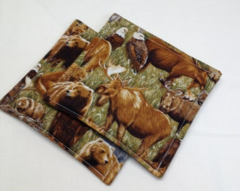 Northern Wildlife Potholders set of 2