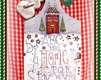 Apple Tree Cottage Original Design E Pattern  -  Winter Sampler Pattern