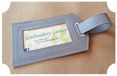 machine embroidery luggage tags