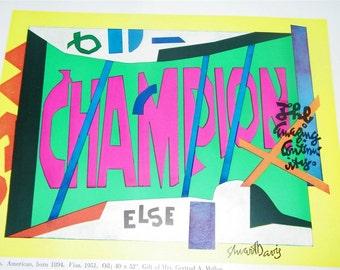 Vintage Visa Stuart Davis Color Print 9930 Modern Art