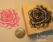 P57 Rose flower rubber stamp