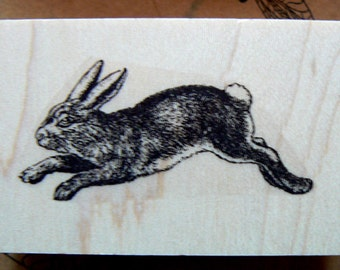 Rabbit rubber stamp WM P29
