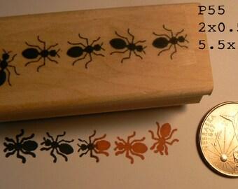 Ants rubber stamp WM P55