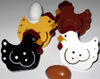 Farm Chickens and Country Egg Push Pins for Bulletin Board
