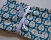 CLOSEOUT SALE- Organic Baby Blanket - Ukuleles
