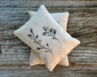 Thorny Plant II - lavender sachet pillow - homegrown organic lavender