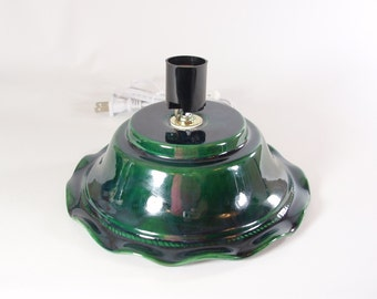 Replacement Ceramic Christmas Tree Base Skirt Style Boothe molds Green made to order