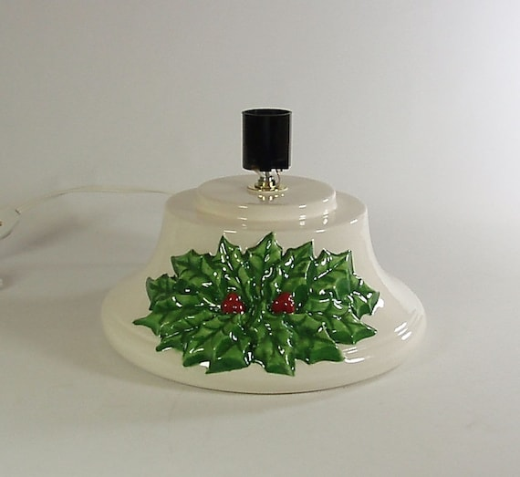 Items similar to replacement ceramic christmas tree base large holly