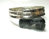 Unisex Silver Bracelet, Hammered Silver Bangle Bracelet, Sterling Silver Bangle, Earthy Sterling Bracelet, Organic Hammered Silver Bracelet