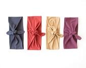 Tie Up Headscarf // Stretch Headband // Hair Wrap // Turban Headband // Knot Headband // Fabric Tie Headband