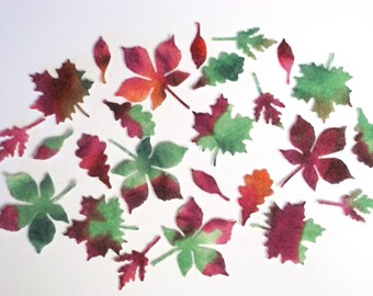 Tiny Felt Autumn Leaves Assortment 2