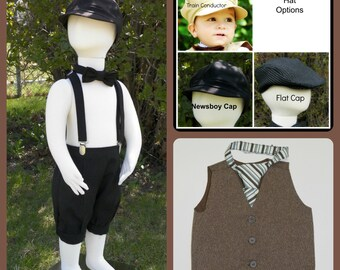 Toddler Boy Knicker suit size 2 to 4 Boys size.  Set starts with Knickers Then add on accessories to complete the look
