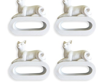 SPECIAL EDITION: Set of Four - Cat Napkin Rings