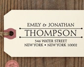 CUSTOM ADDRESS STAMP with proof from usa, Eco Friendly Self-Inking stamp, rsvp address stamp, library stamp, calligraphy designer stamp 86