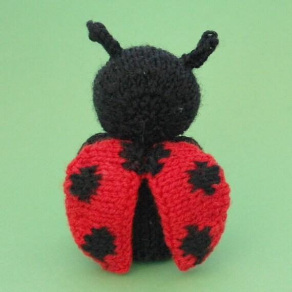 Ladybug Toy Knitting Pattern (PDF) from Jellybum on Etsy Studio