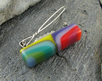 Colorful Barrette.  Fused Glass Accessory.  Hair Barrette.  Handmade Glass Hair Clip.  Made in Texas.
