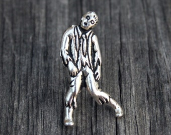 Tie Tack - Zombie, Antique Silver Finish