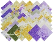 "Eleanor Burns ZOEY Precut 5"" Charm Pack Fabric Quilting Cotton Squares Benartex Floral Roses"