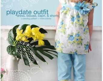 Playdate Outfit: Dress, Blouse, Capri & Shorts Sewing Pattern