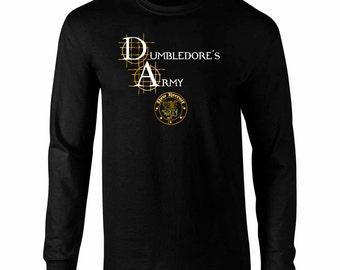 Long Sleeve Dumbledore's Army Harry Potter Fan Art T-Shirt