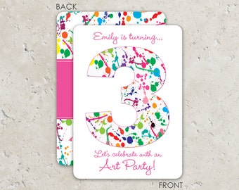 Art Party Invitation / Paint Party Invitation / Art Birthday Party / Painting Party