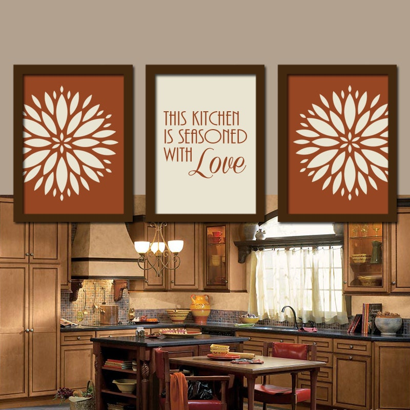Kitchen wall art canvas or prints kitchen quote by trmdesign for Art prints for kitchen wall