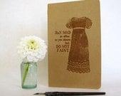 Jane Austen Moleskine Journal - Regency fashion illustration - Do Not Faint