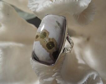 Beautiful Ocean Jasper Ring Size 6