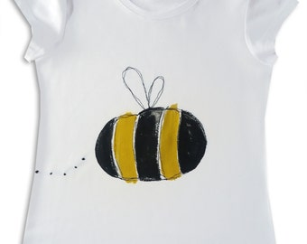 Kid's Bumble Bee Tee Shirt / Girls Top / Boys T-shirt / Babies / Children's Clothes