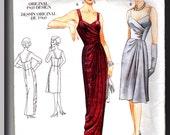 Vogue Designer Original 1960s Reproduction Pattern 2372 Cocktail & Evening Length Dress w/ draped boned bodice Size 12