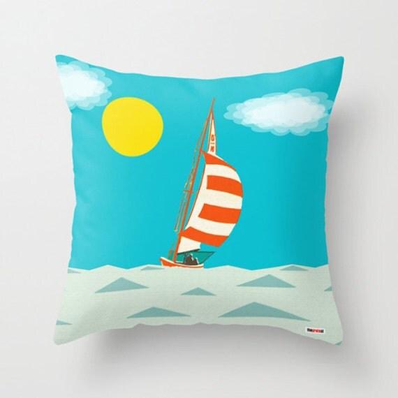 Boat Decorative throw pillow cover Contemporary pillow case