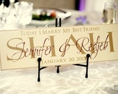 18x6 Custom Family Name Plaque - Wood with Vinyl Lettering