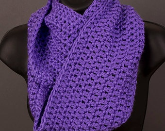 Women's infinity scarf, grape scarf, ready to ship, crocheted scarf