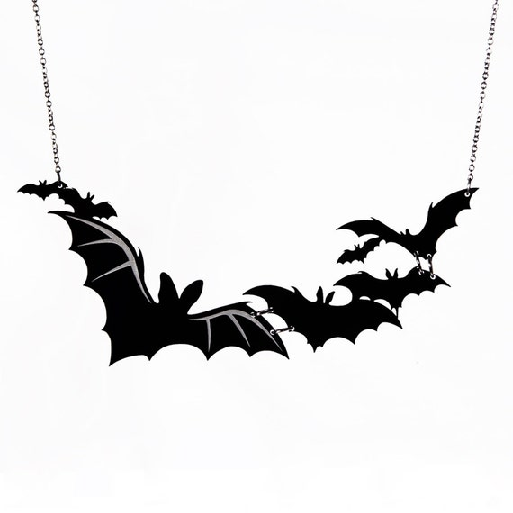 Cloud of Bats Necklace - Laser Cut Necklace (C.A.B. Fayre Original Design)